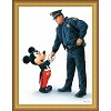 Disney Giclee Framed Canvas - William Silvers - Mickey and the Policeman