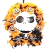 Disney Holiday Wreath - Jack Skellington Face - Feathered