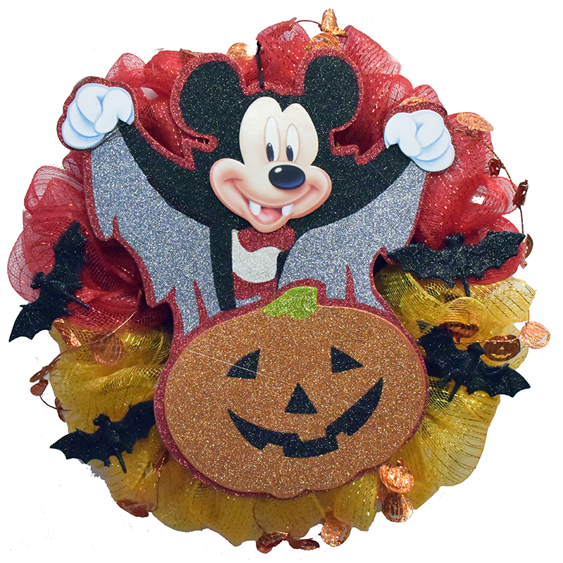 Disney Holiday Wreath - Vampire Mickey Mouse