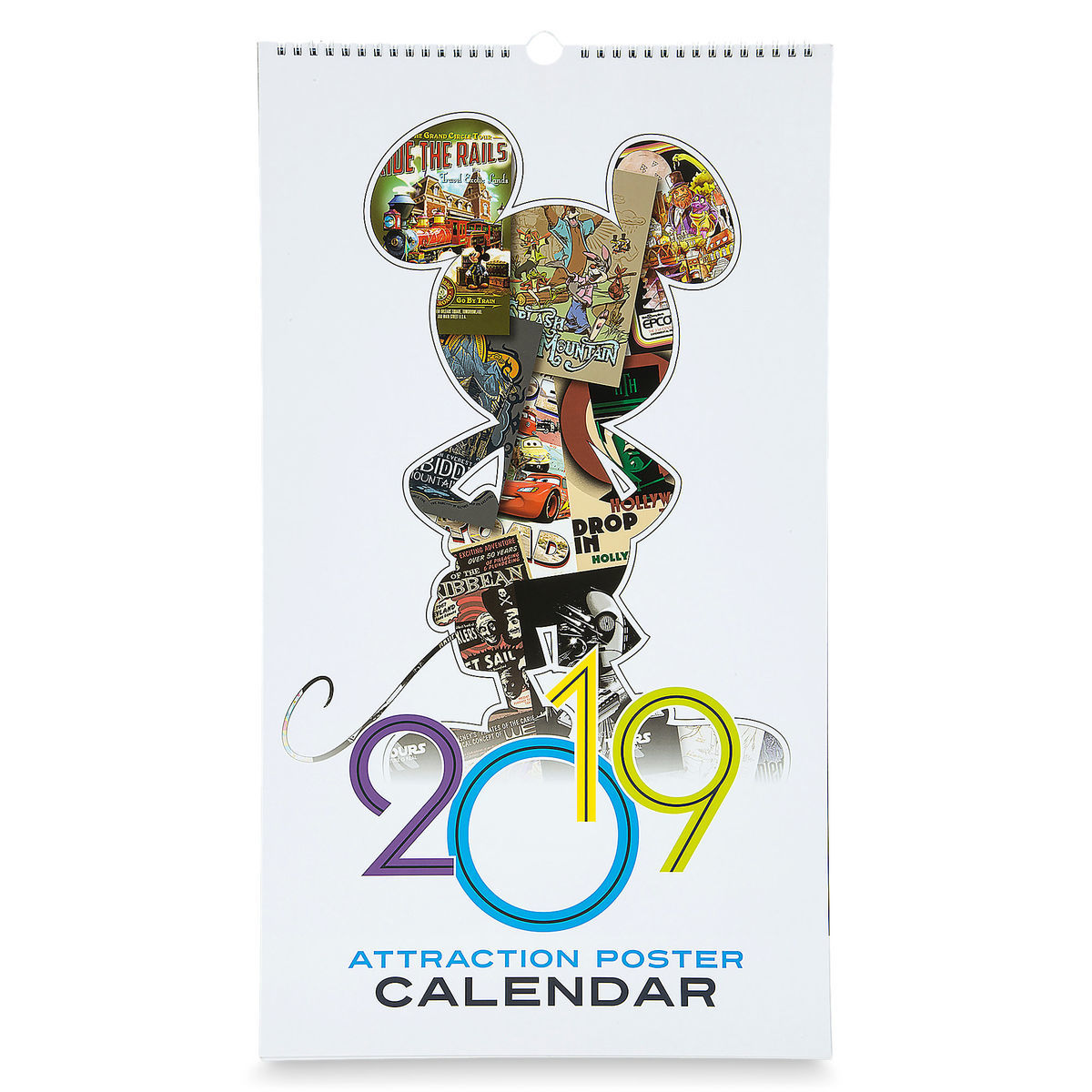 2019 Disney Calendar Disney Poster Calendar   2019 Disney Parks Attraction Posters
