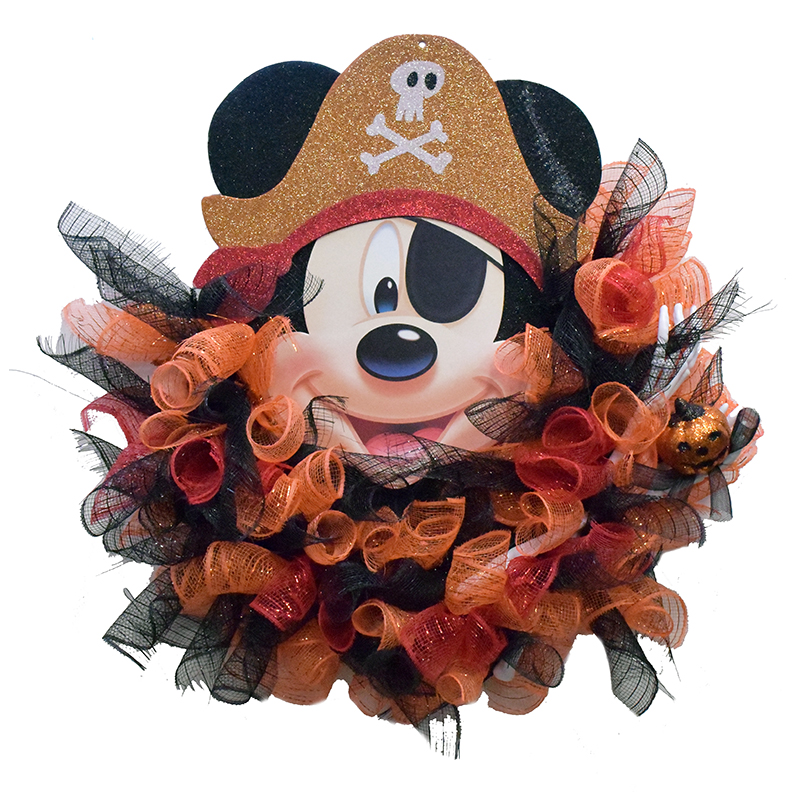 Disney Holiday Wreath - Pirate Mickey