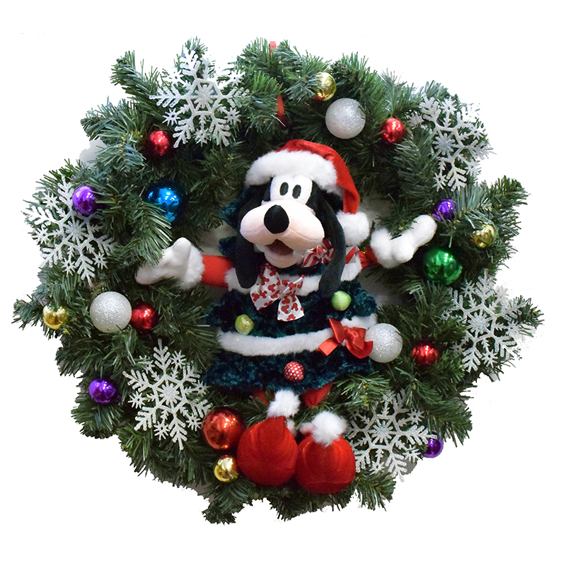 disney holiday wreath goofy christmas