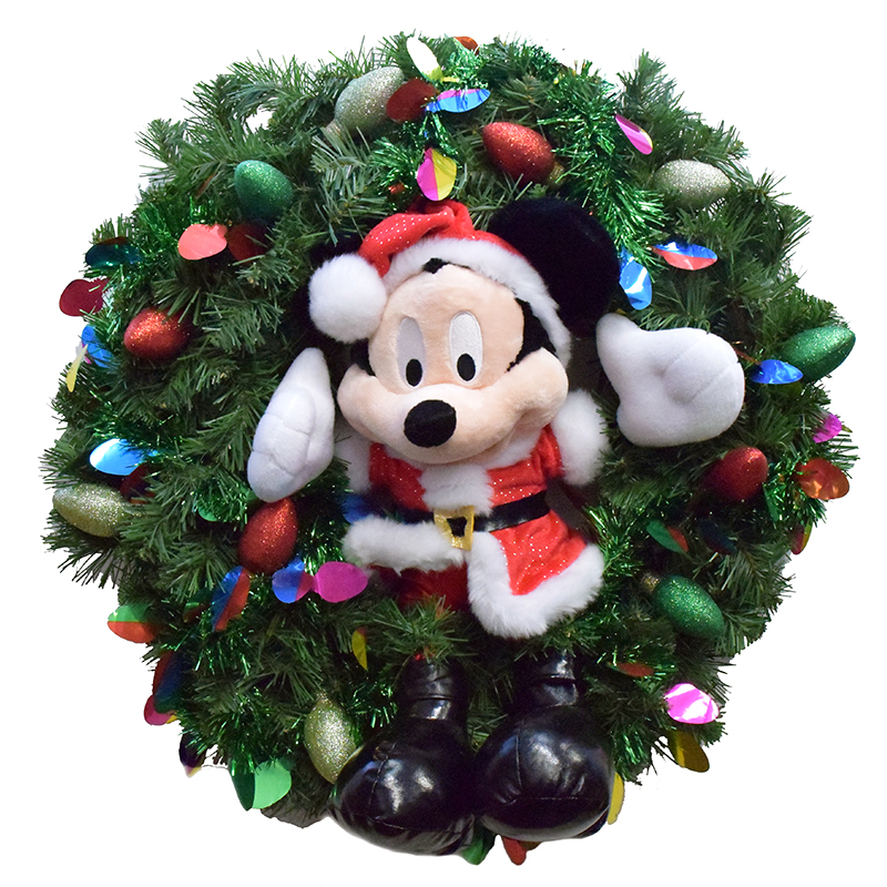 Disney Holiday Wreath - Mickey Mouse - Christmas - Light Up