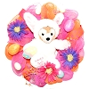 Disney Holiday Wreath - Duffy The Disney Bear - Easter Design