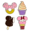Disney 4 Pin Set - Disney Parks Snacks Mickey Ice Cream Bar Cone Doughnut Swirl