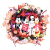 Disney Holiday Wreath - Fab Four - Halloween