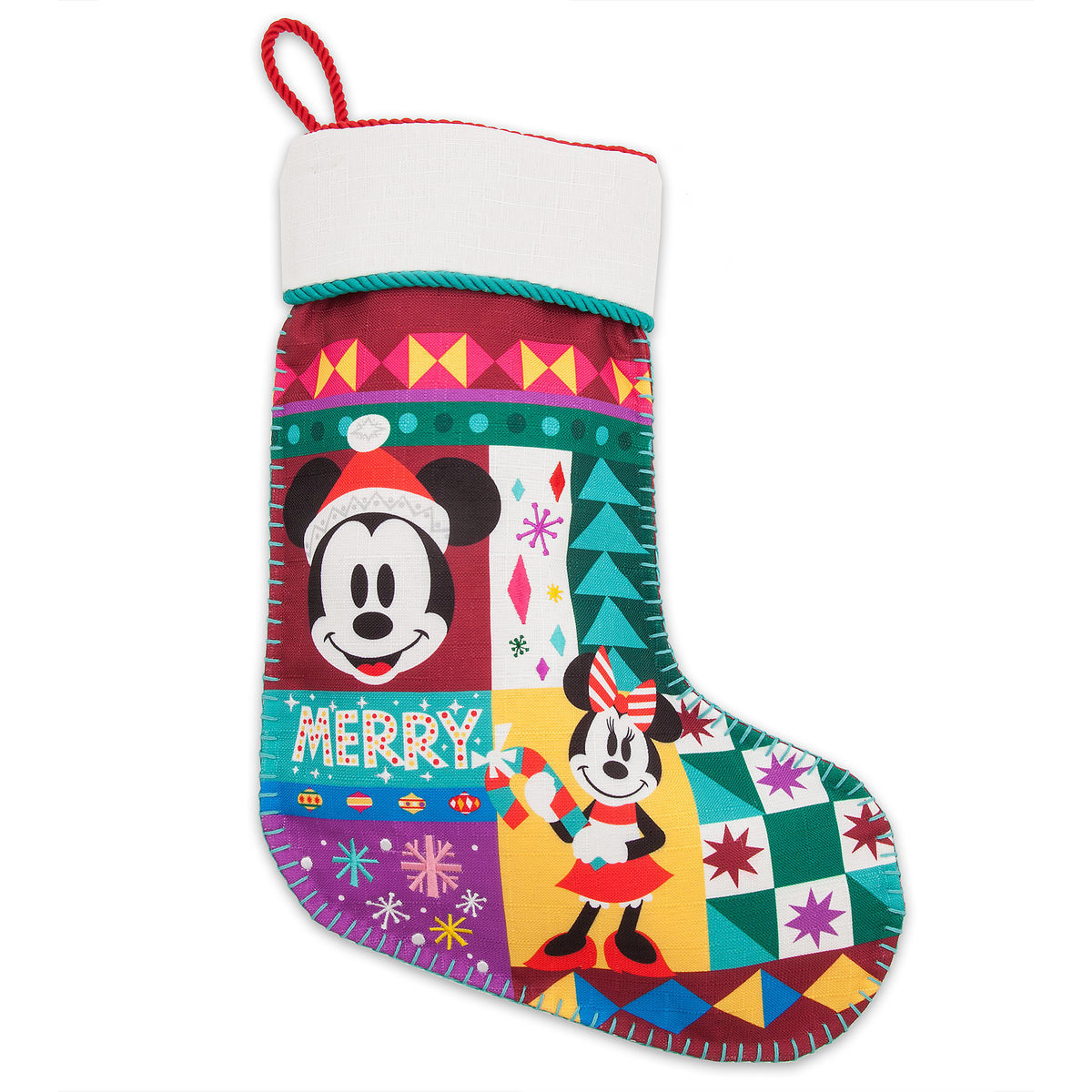 Disney Christmas Stocking - Holiday Cheer - Mickey and Minnie Mouse
