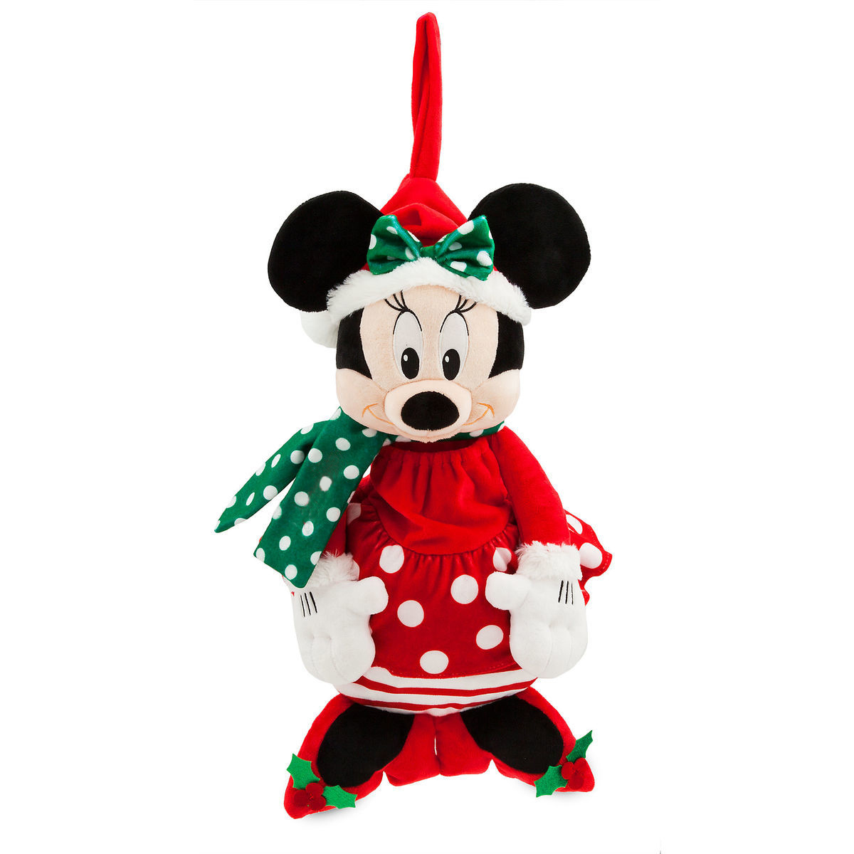 Christmas Minnie Mouse Head.Disney Christmas Stocking Holiday Cheer Santa Minnie Mouse