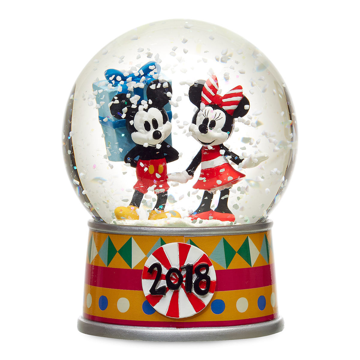 Disney Snow Globe - Holiday Cheer - 2018 Mickey and Minnie Mouse