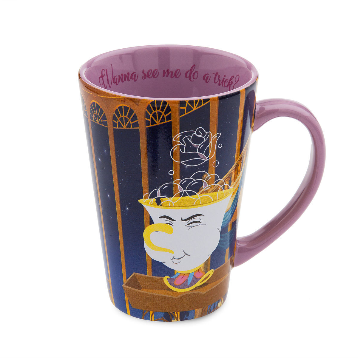 Disney Coffee Cup Beauty And The Beast Chip Wanna See Me