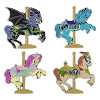 Disney 4 Pin Set - Kingdom Carousel Horses