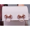 Disney Rebecca Hook Earrings - Minnie Icon Studs - Rose Gold Bow