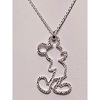 Disney Rebecca Hook Necklace - Mickey Mouse Open Silhouette - Silver