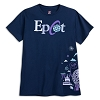 Disney Adult Shirt - Epcot Passport Logo - Navy
