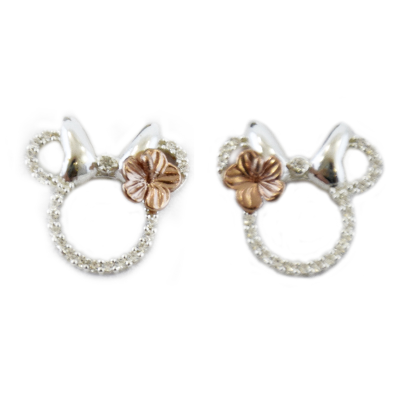 cb6f5479c Add to My Lists. Disney Rebecca Hook Earrings - Minnie Icon Studs - Silver  ...