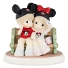 Disney Precious Moments Figurine - Making Memories - Mouseketeers on Park Bench