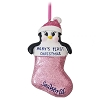 SeaWorld Ornament - Baby's First Christmas Penguin Pink Stocking