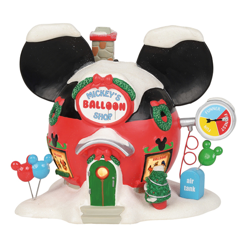 Disney Village Figure - Mickey's Balloon Inflators