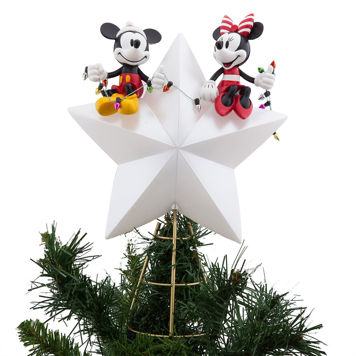 disney christmas tree topper mickey and minnie light up 2018