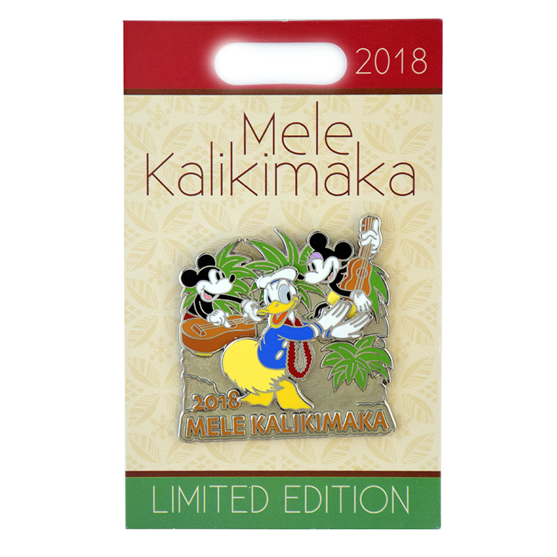 Disney Holiday Pin - 2018 Mele Kalikimaka - Fab 3