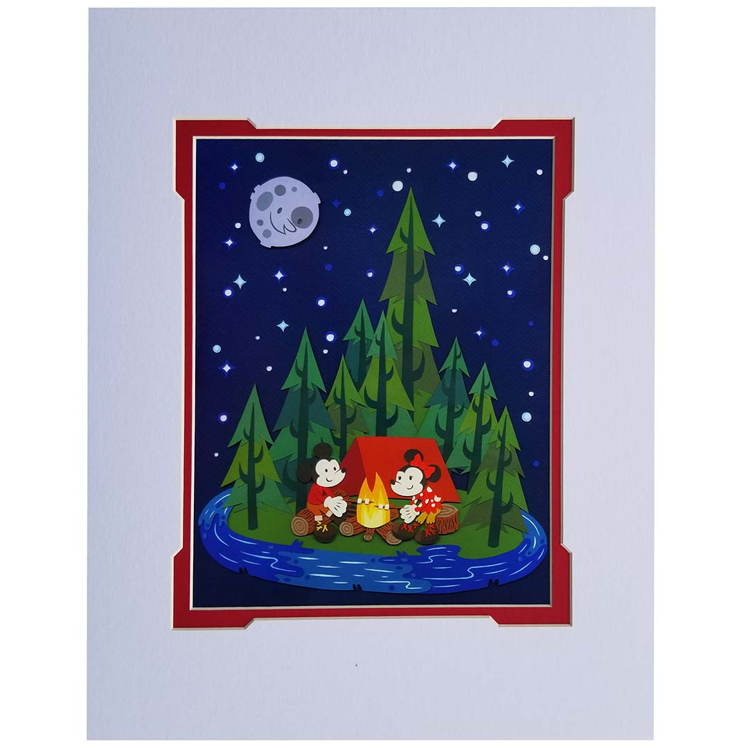 Disney Artist Print - Jared Andrew Schorr - Two Happy Campers