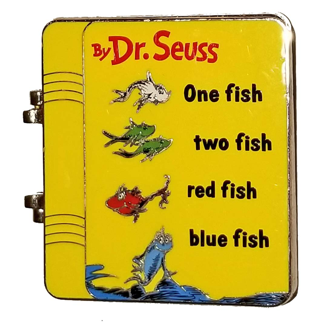 Universal Pin - Dr. Seuss - One Fish, Two Fish Book