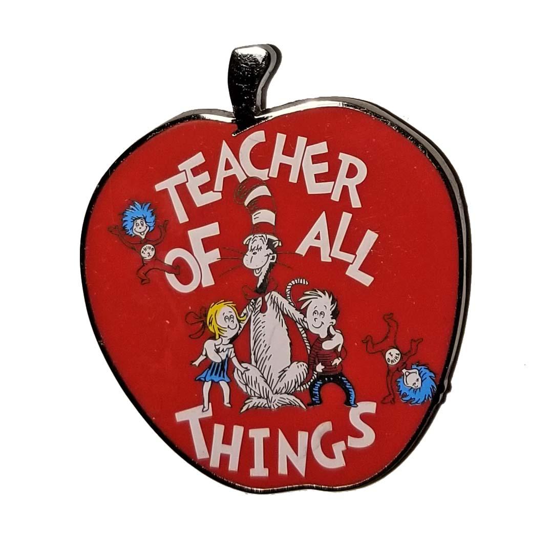 Universal Studios Dr Seuss Teacher of All Things Spinner Apple Ornament