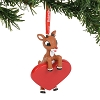 SeaWorld Ornament - Rudolph - Rudolph Heart