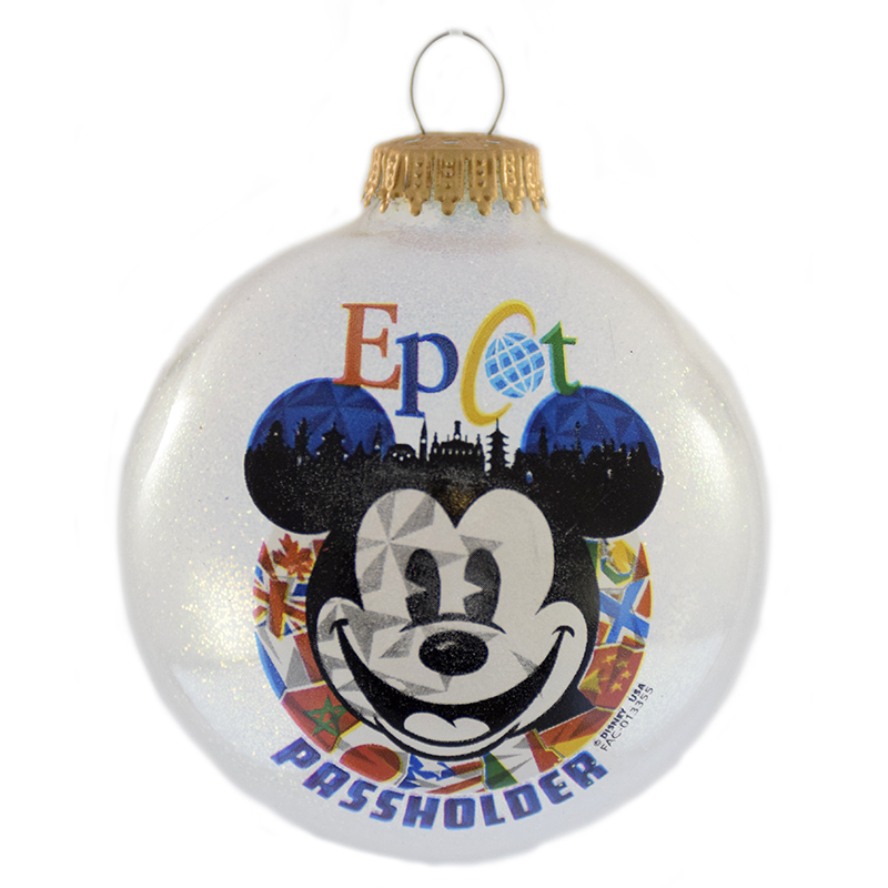 Disney Christmas Ornament - EPCOT World Showcase - Passholder