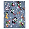 Disney Deluxe Reversible Throw Blanket - Santa Mickey and Friends