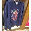Disney Adult Sweatshirt - Holiday 2018 - Red Santa Mickey Blue