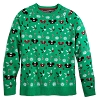 Disney Adult Ugly Sweater - Mickey Mouse Holiday Ear Hats Pullover - Green