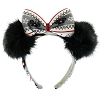 Disney Headband Hat - Holiday 2018 - Ugly Sweater Minnie Bow with Furry Ears
