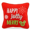 Disney Throw Pillow - Nordic Winter Happy Jolly Merry Holiday