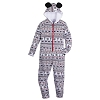 Disney Ladies One Piece Pajama - Holiday 2018 - Ugly Sweater Zip-Up