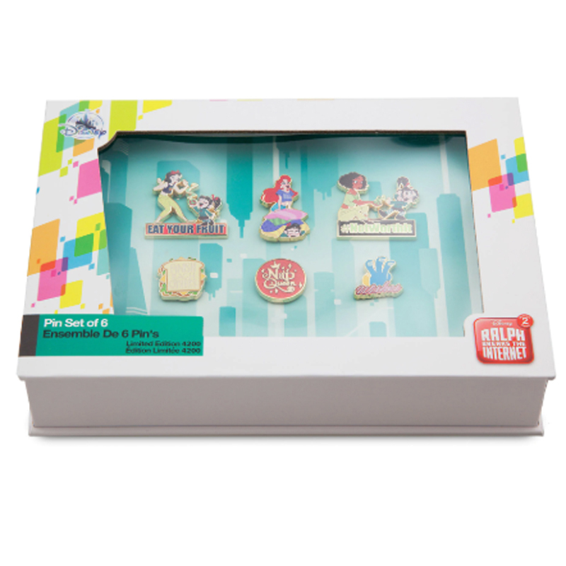 Disney 6 Pin Set - Ralph Breaks the Internet - Vanellope and Princesses