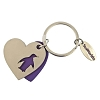SeaWorld Keychain - Purple Penguin Heart