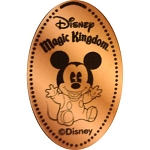 Disney Pressed Penny - Baby Mickey Sitting