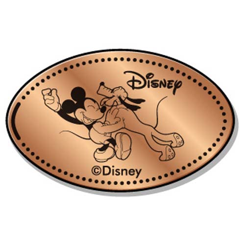 Disney Pressed Penny - Pluto Licking Mickey