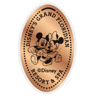 Disney Pressed Penny - Grand Floridian - Mickey & Minnie