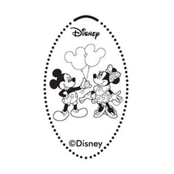 Disney Pressed Penny - Mickey & Minnie with Balloons