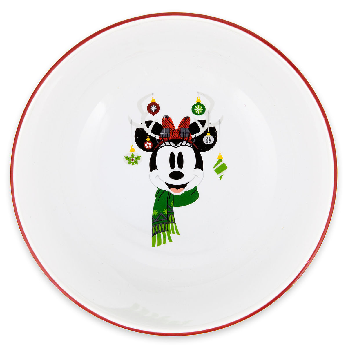 Disney Cereal Soup Bowl - Nordic Winter Santa Minnie