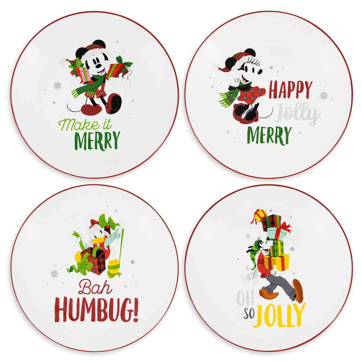 Disney Plate Set - Nordic Winter Santa Mickey and Friends