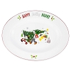 Disney Serving Plate / Platter - Nordic Winter Santa Mickey and Friends