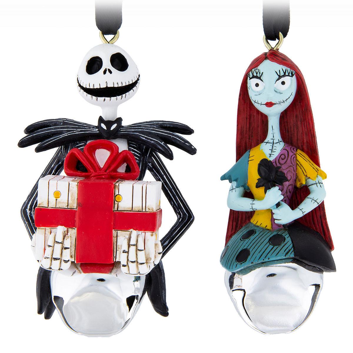 Disney Ornament Set Jack Skellington And Sally Bell Ornament Set