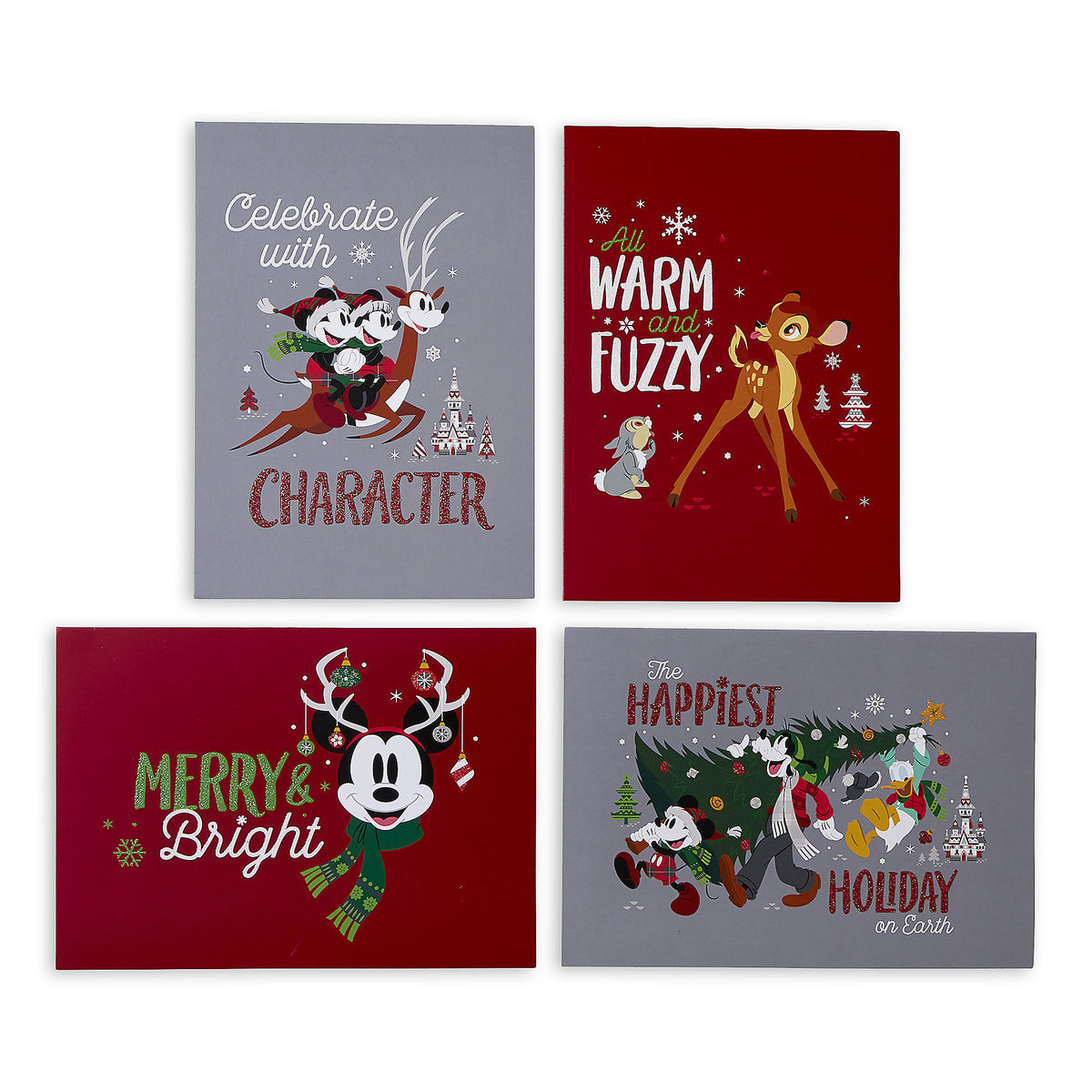 Disney Greeting Cards Holiday Santa Mickey Mouse And Friends