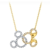 Disney Crislu Necklace - Mickey and Minnie Mouse Interlocking Icons