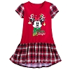 Disney Nightshirt for Girls - Minnie Mouse with Reindeer Antlers