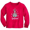 Disney Girls Pajama Top - Holiday Castle Believe