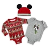 Disney Infant Body Suit Set - Santa Mickey Reindeer